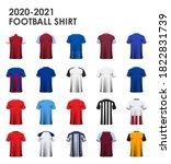 icon set of soccer kit or... | Shutterstock .eps vector #1822831739