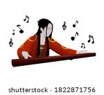 ancient chinese women playing... | Shutterstock . vector #1822871756