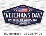 vector logo for veterans day ... | Shutterstock .eps vector #1822879406