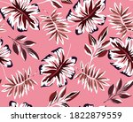 seamless tropical pattern ...   Shutterstock .eps vector #1822879559