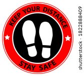 keep your distance stay safe ... | Shutterstock .eps vector #1822888409