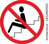 do not sit warning sign.... | Shutterstock .eps vector #1822889003