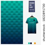 square pattern on green... | Shutterstock .eps vector #1822891730