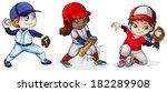 illustration of the baseball... | Shutterstock .eps vector #182289908