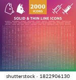 set of 2000 high quality thin... | Shutterstock .eps vector #1822906130