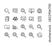 search line icons. set... | Shutterstock .eps vector #1822906700