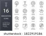innovation line icons. set of... | Shutterstock .eps vector #1822919186