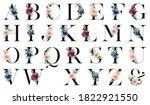 Alphabet Letters Set With...