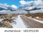 Desert Mountain Road In Winter...