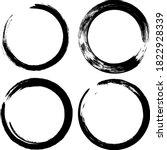 circle ink brush stroke ...   Shutterstock .eps vector #1822928339
