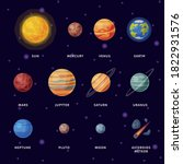 solar system planets  earth ...   Shutterstock .eps vector #1822931576