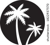 two palm trees silhouette... | Shutterstock .eps vector #1822937570