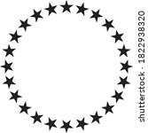 stars in circle vector icon... | Shutterstock .eps vector #1822938320