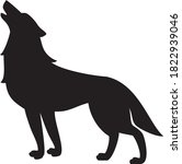 vector illustration of wolf icon | Shutterstock .eps vector #1822939046