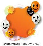 happy halloween banner with... | Shutterstock .eps vector #1822942763