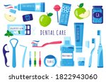 vector cartoon set of dental... | Shutterstock .eps vector #1822943060
