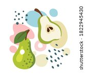pear on abstract summer... | Shutterstock .eps vector #1822945430