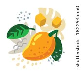 fresh mango on color abstract... | Shutterstock .eps vector #1822945550