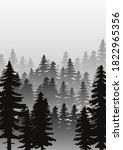 landscape with fir trees.... | Shutterstock .eps vector #1822965356