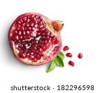 juicy pomegranate fruit... | Shutterstock . vector #182296598