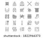 knitting flat line icons set.... | Shutterstock .eps vector #1822966373