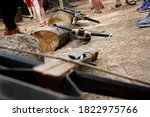old crossbow from the middle... | Shutterstock . vector #1822975766