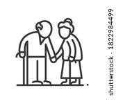 senior couple   vector line... | Shutterstock .eps vector #1822984499
