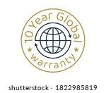 10 year global warranty images  ... | Shutterstock .eps vector #1822985819