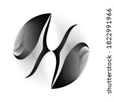 abstract halftone lines circle... | Shutterstock .eps vector #1822991966