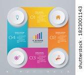 4 steps simple editable process ... | Shutterstock .eps vector #1823001143