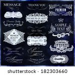 calligraphic design elements... | Shutterstock .eps vector #182303660