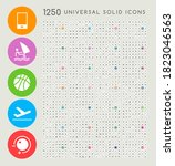 set of 1250 high quality solid... | Shutterstock .eps vector #1823046563