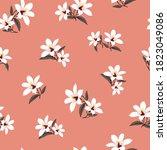 cute all over grey vector...   Shutterstock .eps vector #1823049086
