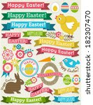 background with ribbon  easter... | Shutterstock .eps vector #182307470