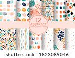 hand drawn circle pattern of... | Shutterstock .eps vector #1823089046