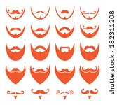 ginger beard with moustache or... | Shutterstock .eps vector #182311208