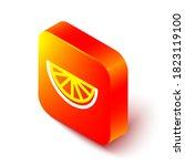 Isometric Line Citrus Fruit...