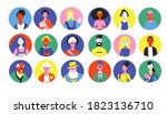big collection of avatars of... | Shutterstock .eps vector #1823136710