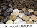 Large Pile Of Coins From Aroun...