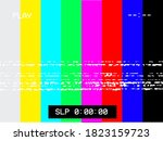 no signal glitch analog picture ... | Shutterstock .eps vector #1823159723