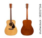 acoustic guitar isolated on... | Shutterstock . vector #182317166