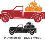 Pumpkin Truck Vector...