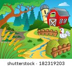 farm theme with wheat   eps10... | Shutterstock .eps vector #182319203