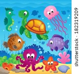 image with undersea theme 7  ... | Shutterstock .eps vector #182319209