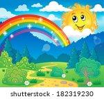 spring theme landscape 6  ... | Shutterstock .eps vector #182319230