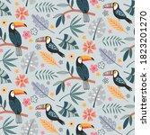 cute vector seamless pattern... | Shutterstock .eps vector #1823201270