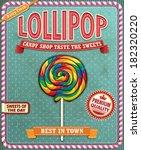 vintage lollipop poster design
