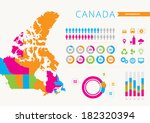 canada infographic | Shutterstock .eps vector #182320394