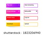 set of modern gradient app ...