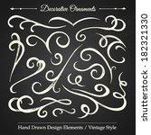 decorative ornaments   hand... | Shutterstock .eps vector #182321330